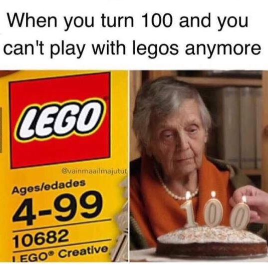 Can't play legos
